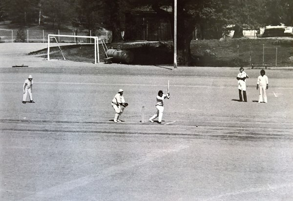 Match vs Lund CC in the 1970s at Östermalm IP